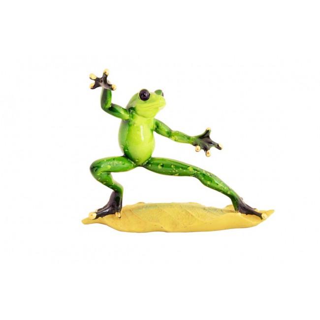 Pysco py8904 Polyester Dekoratif İkili Karateci Kurbağa Figürü