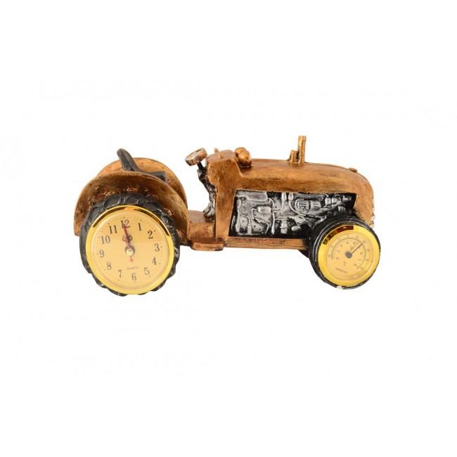 Pysco py9022 Polyester Masa Üstü Termometreli Traktör Şeklinde Saat